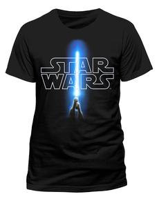 Camiseta de Star Wars Logo y Sable
