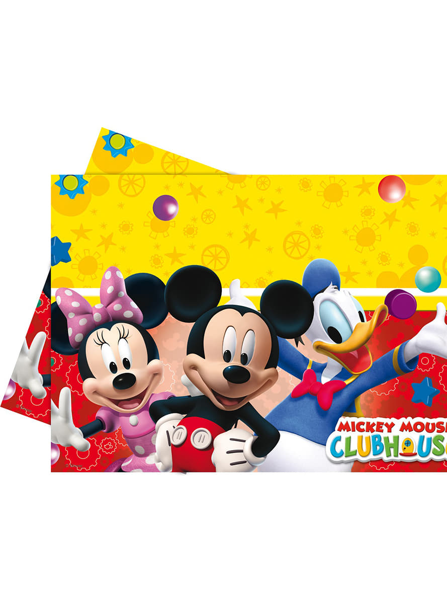 nappe mickey mouse clubhouse de f te funidelia. Black Bedroom Furniture Sets. Home Design Ideas