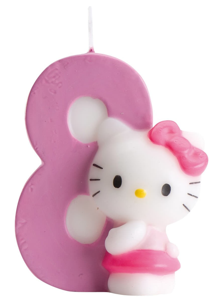 Uncategorized Hello Kitty Number hello kitty number 8 candle buy online at funidelia