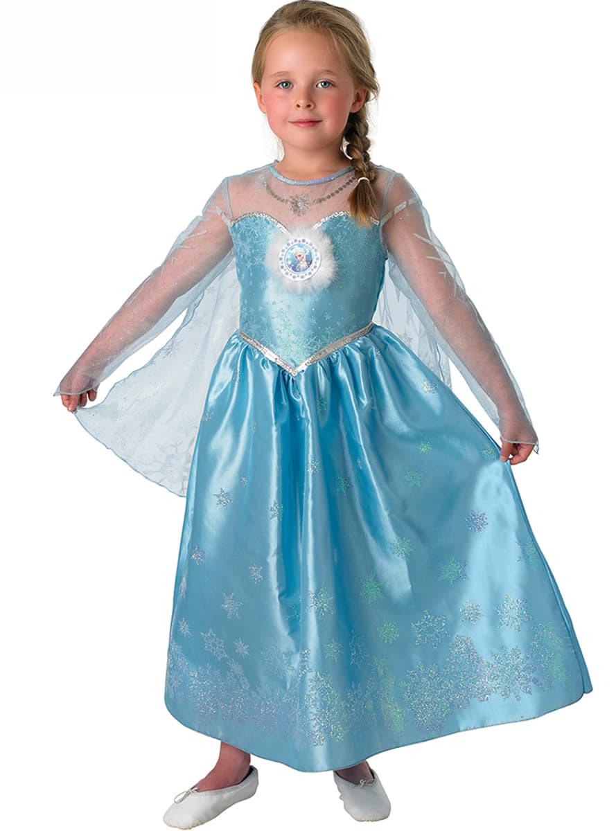 costume de elsa luxe frozen pour fille acheter en ligne sur funidelia. Black Bedroom Furniture Sets. Home Design Ideas