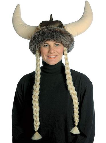 wikinger m tze mit blonden z pfen f r kost m funidelia. Black Bedroom Furniture Sets. Home Design Ideas