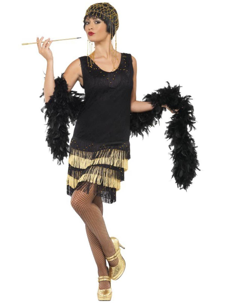 Beautiful Deguisement A La Mode #8: Déguisement De Jeune à La Mode Des Années 20 Avec Des Franges. Detalle: Zoom