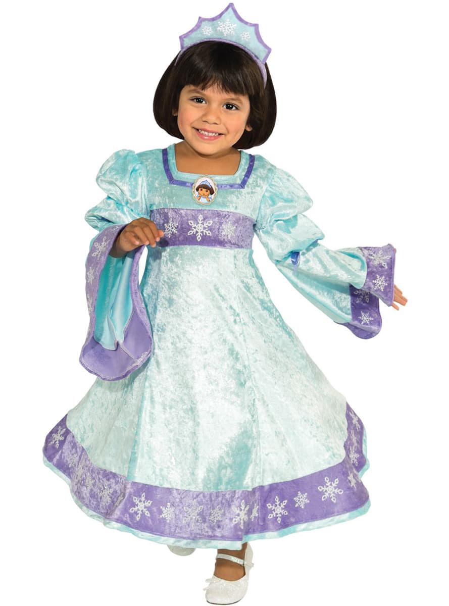 disfraz de dora la exploradora princesa de la nieve para nia