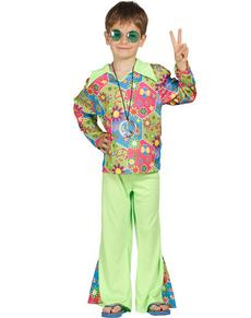 disfraz de hippie multicolor para nio