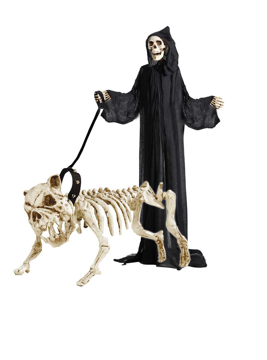 squelette de chien avec laisse. Black Bedroom Furniture Sets. Home Design Ideas