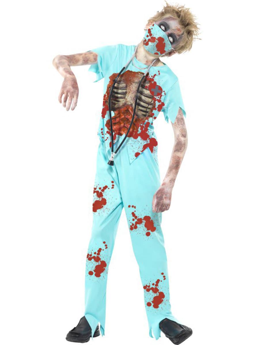 disfraz de mdico zombie para nio