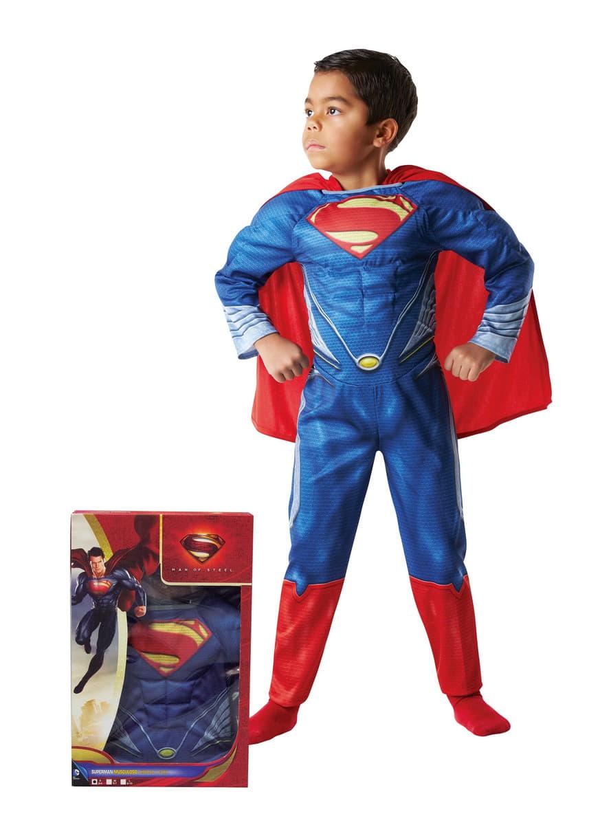 superman kost m f r jungen muskul s im karton funidelia. Black Bedroom Furniture Sets. Home Design Ideas