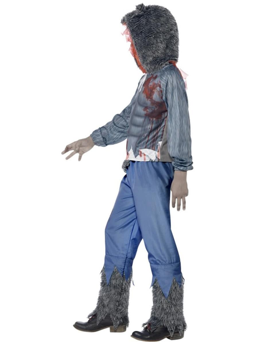 disfraz de lobo luchador zombie para nio