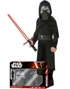Disfraz de Kylo Ren con espada láser Episodio 7 para niño en caja