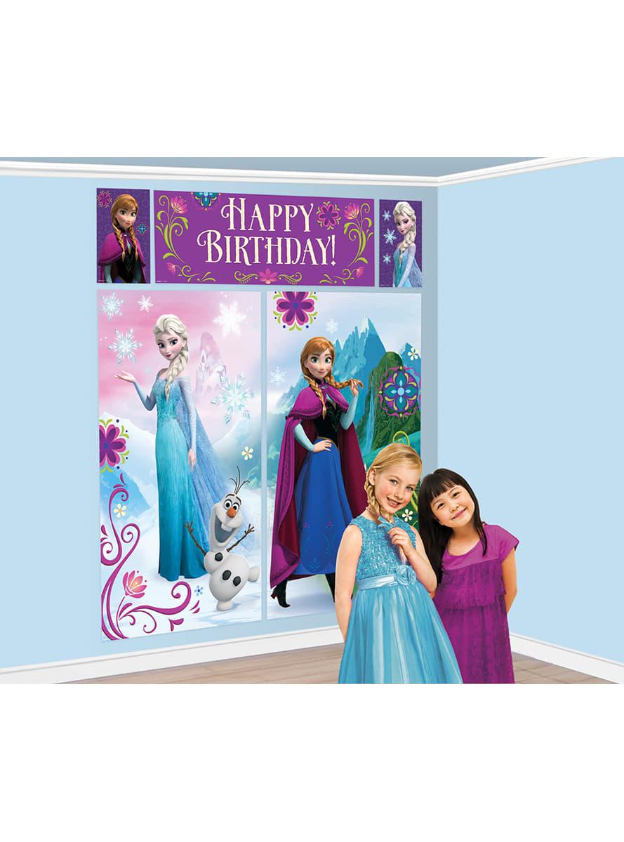 d coration murale anniversaire la reine des neiges. Black Bedroom Furniture Sets. Home Design Ideas