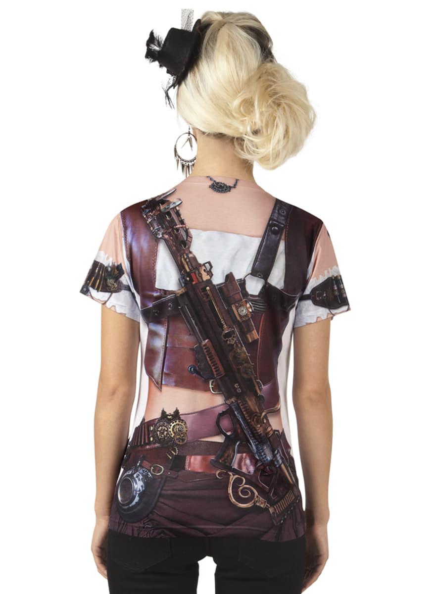 fotorealistisches steampunk t shirt f r damen f r kost m. Black Bedroom Furniture Sets. Home Design Ideas