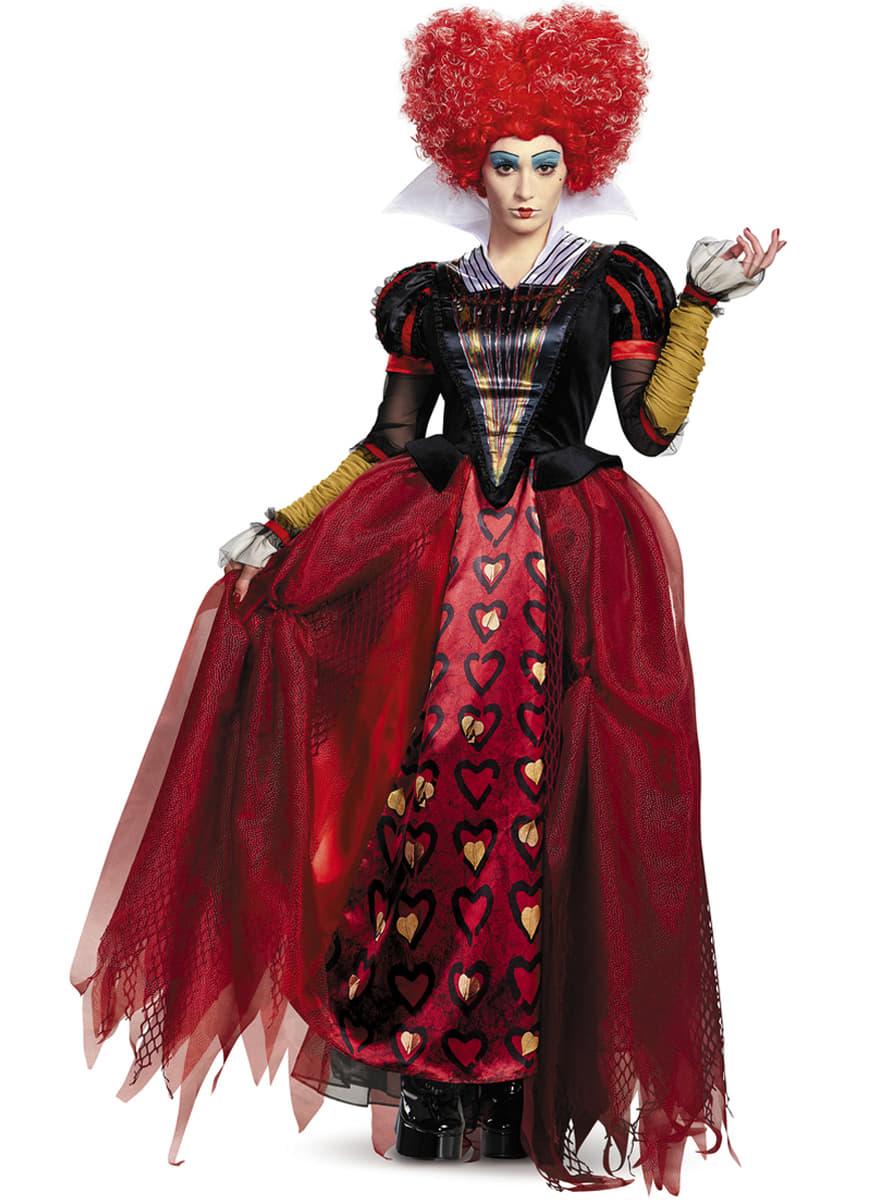 Disfraz de reina de corazones alicia a trav s del espejo for Espejo que no invierte la imagen