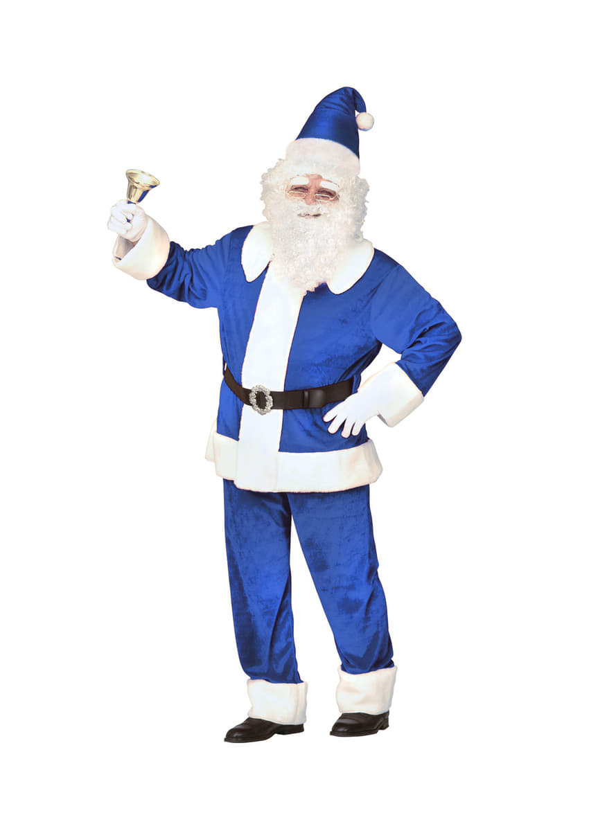 man u0027s traditional blue father christmas costume