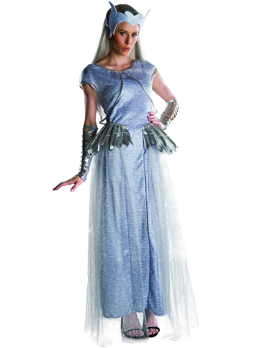 Costume freya le chasseur et la reine des glaces deluxe - Robe reine des glaces ...