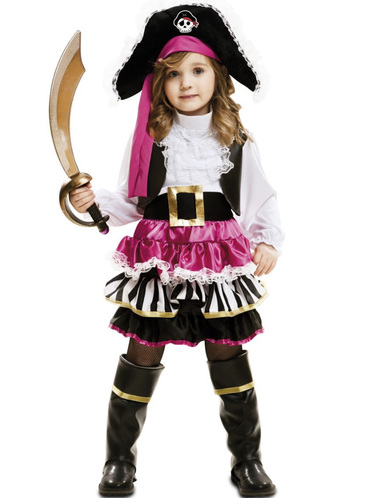 Little Pirate Costume for a girl. Buy on Funidelia at the ...